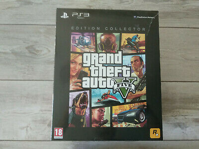 Coffret Collector GTA V 5 grand theft auto Playstation 3 PS3 FR comme NEUF
