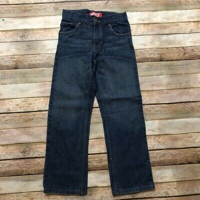 Levis Boys Blue Jeans Med Wash 514 7 Reg Slim Straight Pants