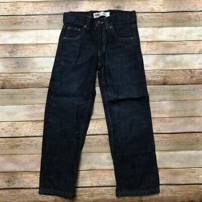 Levis Boys Blue Jeans Pants Dark Wash 505 Reg 5 6 Reg
