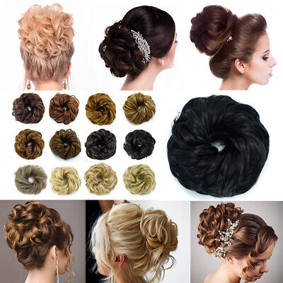 LARGE Curly Messy Bun Hair Piece Scrunchie Thick Hair Updo Extension UKSELL 99O