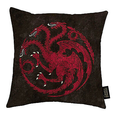 Game Of Thrones House Targaryen Square Cushion - 100% Official HBO Licensed
