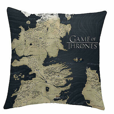 Game Of Thrones House Westeros Map Square Cushion - 100% Official HBO Licensed