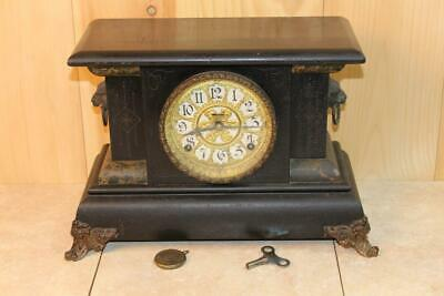 Antique Ingraham 8 Day Mantle Clock ~Early 1900's~ *Runs*