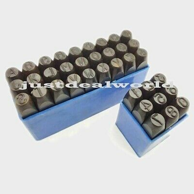 """1/16"""" 36 Pieces Set Hand Metal Marking Punches Letter & Numbers Stamp"""