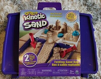 Kinetic Sandbox Set - 2 lbs Sand 5 Molds 2 Tools Folding Case - The One & Only!
