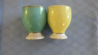 Pair Vintage Egg Cups  Made IN  England ..POOLE