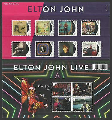 Gb 2019 Music Giants Iii Elton John Pop Rock Music Presentation Pack Mnh