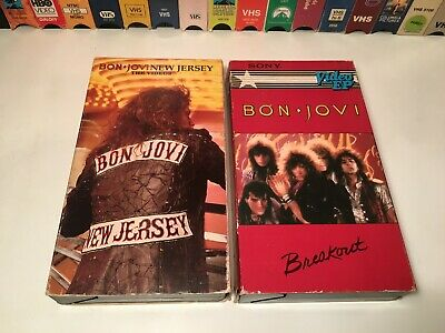 Bon Jovi 80s Music Video VHS Lot of 2 Breakout Video EP & New Jersey: The Videos