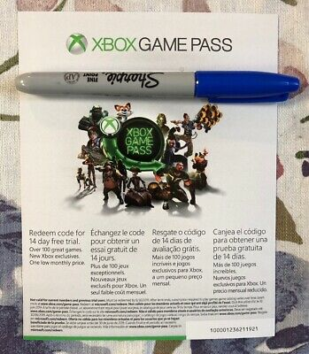 Microsoft Xbox Game Pass 14 Day Trial UNUSED *Instant Delivery*