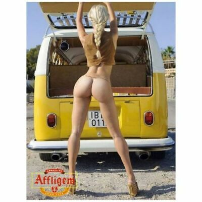 "Yellow Volkswagen Bottoms Girl Gift Photo Fridge Magnet Size 2.5"" x 3.5"""
