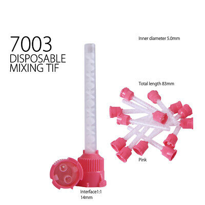 Dental Impression Mixing Tips Silicone Rubber Film - 7003 Pink - 50pc
