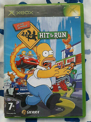 The Simpsons Hit & Run Microsoft XBOX Replacement Case & Manual - NO GAME