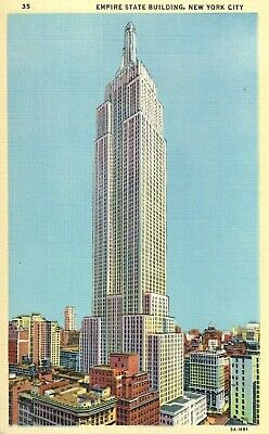 Vintage Postcard Of The Empire State Building In New York City NY Long Ago