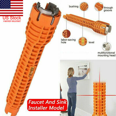 Faucet and Sink Installer Multi tool Pipe Wrench For Plumbers and Homeowners US