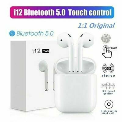 i12 TWS Bluetooth 5.0 Earbuds Wireless Headphones Earphones For iphone-Android