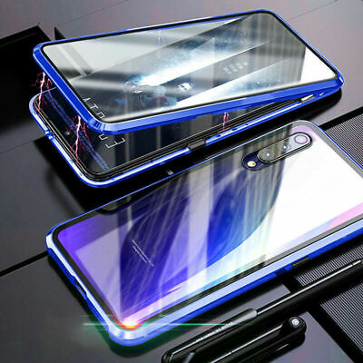360° Magnetic Metal Case For Samsung Note 10 Plus S10 70 Adsorption Glass Cover