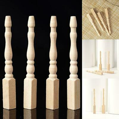 4PCS Cabriole table legs dollhouse miniature 1/12 scale wood T9X1