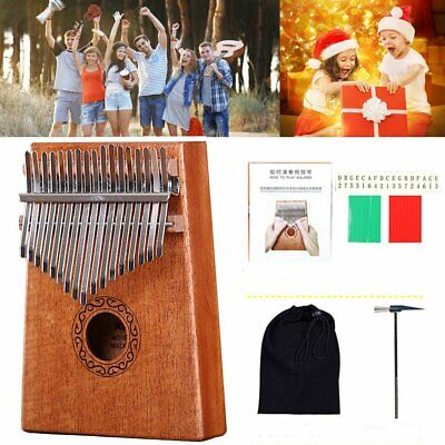 17 Touches Kalimba Acajou Bois Piano Mbira Naturel Mini Clavier Instrument
