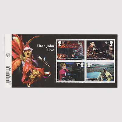 2019 Music Giants - Elton John Live Miniature Sheet with Barcode