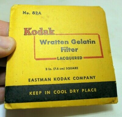"KODAK Wratten Gelatin Lens Filter 3X3"" square 82A light Blue"