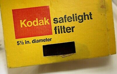 "KODAK SAFELIGHT FILTER 5 1/2"" 5.5"" 14cm ROUND Glass RED 1A 1521517"