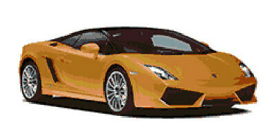 """Lamborghini Latch Hook Rug Pattern for 72"""" x 36"""" Aprx rug kit (Not Included)"""
