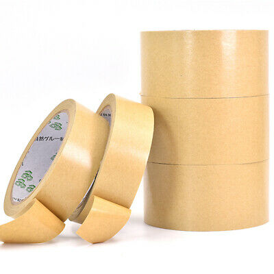 Brown Self Adhesive Backing Tape Crafts Kraft Picture Framing Canvas 25-50mm