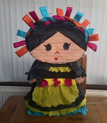 Mexican Doll Handmade Piñata Party Games Kids Adult Smash Colourful