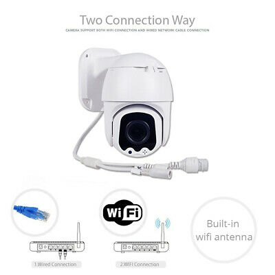 2.5 Inch 1080P 4X Zoom Lens Wireless Wi-Fi PTZ Dome IP Camera Audio Outdoor SD