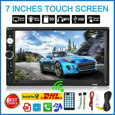"7""  Autoradio mit Bildschirm DAB+ Bluetooth Navigation Navi 2  DIN MP3 Player E8"
