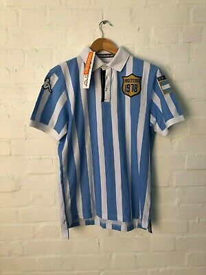 Kappa Argentina Football Men's 1978 Polo Shirt - Medium - Blue/White - New