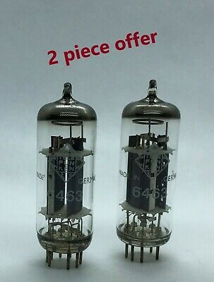 6463 Telefunken 2 pieces NOS rare audio tube valve