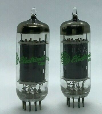 7044 GE matched pair 2 pieces NOS tube valve