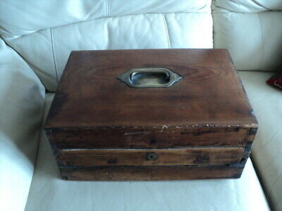Large Antique Military? Campaign Writing Slope/ Stationary Box by Bramah London?