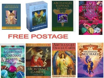 Angel Tarot Archangel Oracle Cards Michael Raphael Gabriel Doreen Virtue + Bag
