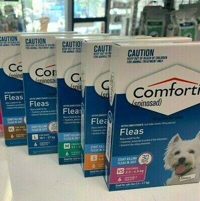 Comfortis Prevents Flea Infestation For Dogs 6 Tablets - All Sizes