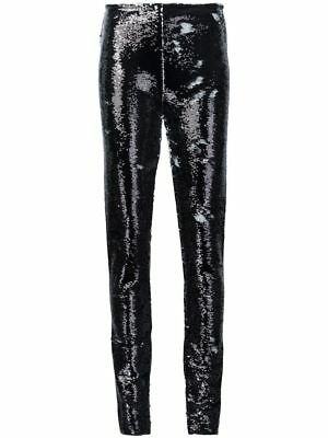 Jeremy Scott Black Fully Sequined Trousers, US Size 6