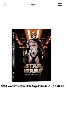 Star Wars Saga Movie Episodes 1-8 Complete Dvd Set Collection(14-disc Set)
