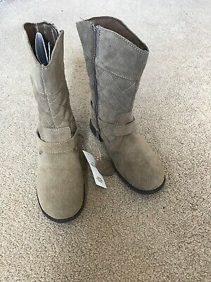 marks and spencer M&S Girls Leather Boots Size 12 Brand New