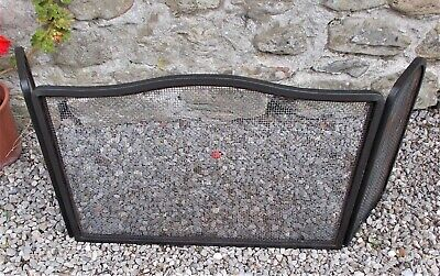 vintage fire guard,folding french fire screen, free standing spark guard