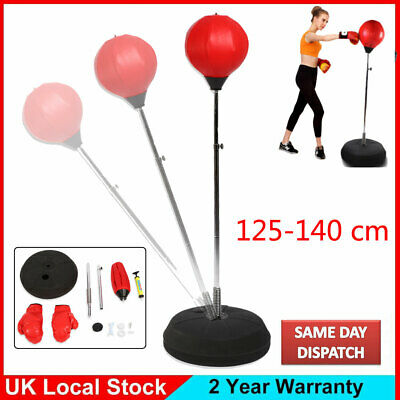 Adult Punch Ball Set Free Standing Adjustable w/Boxing Bag Gloves Speed Training