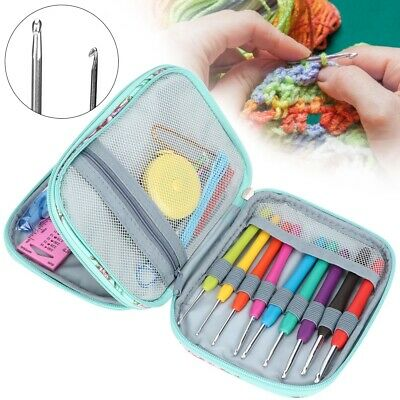 Crochet Hooks Set Knitting Needles Stitching Weaving Tool Kit with Storage Case