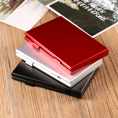Aluminum Alloy Anti-shock Memory Card Storage Carrying Case Holder Wallet TG