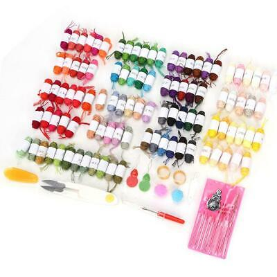 100 Coloured Egyptian Cotton Embroidery Cross Stitch Kits Thread Floss Hot Craft