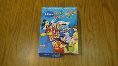 DISNEY DVD BINGO with movie clips Game Complete Very good Condition