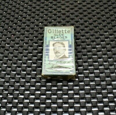 NOS Vintage Gillette Blue Blades Double Edge Safety Razor Blade Pack