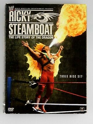 WWE: Ricky Steamboat: The Life Story of the Dragon (3-Disc Set DVD 2010)