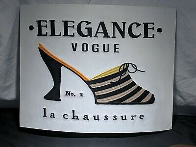 Elegance VOGUE No 1 La Chaussure  with Shoe , Wall Canvas Art Decor Embroidered