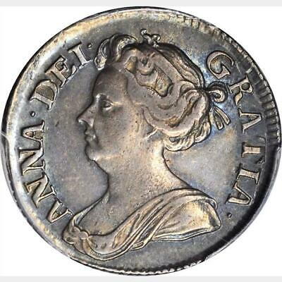 1711 Great Britain 6 Pence, Small Lis, PCGS AU 58, S-3619, KM # 522.1, Sixpence