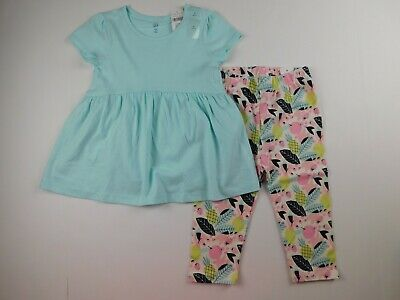 NWT Gap Toddler Girl's 2 Pc Outfit Print Tunic & Leggings 2Yr MSRP $30 New